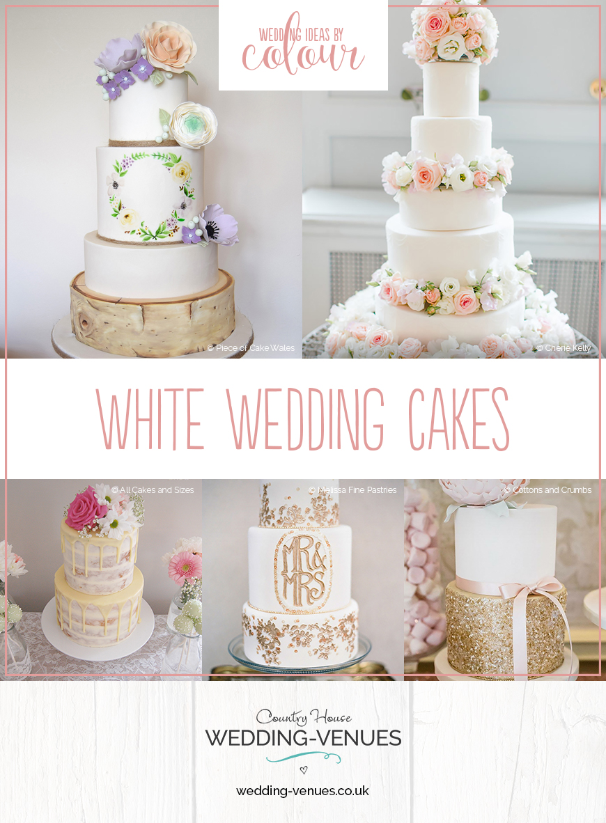 Wedding Ideas By Colour: White Wedding Cakes | CHWV