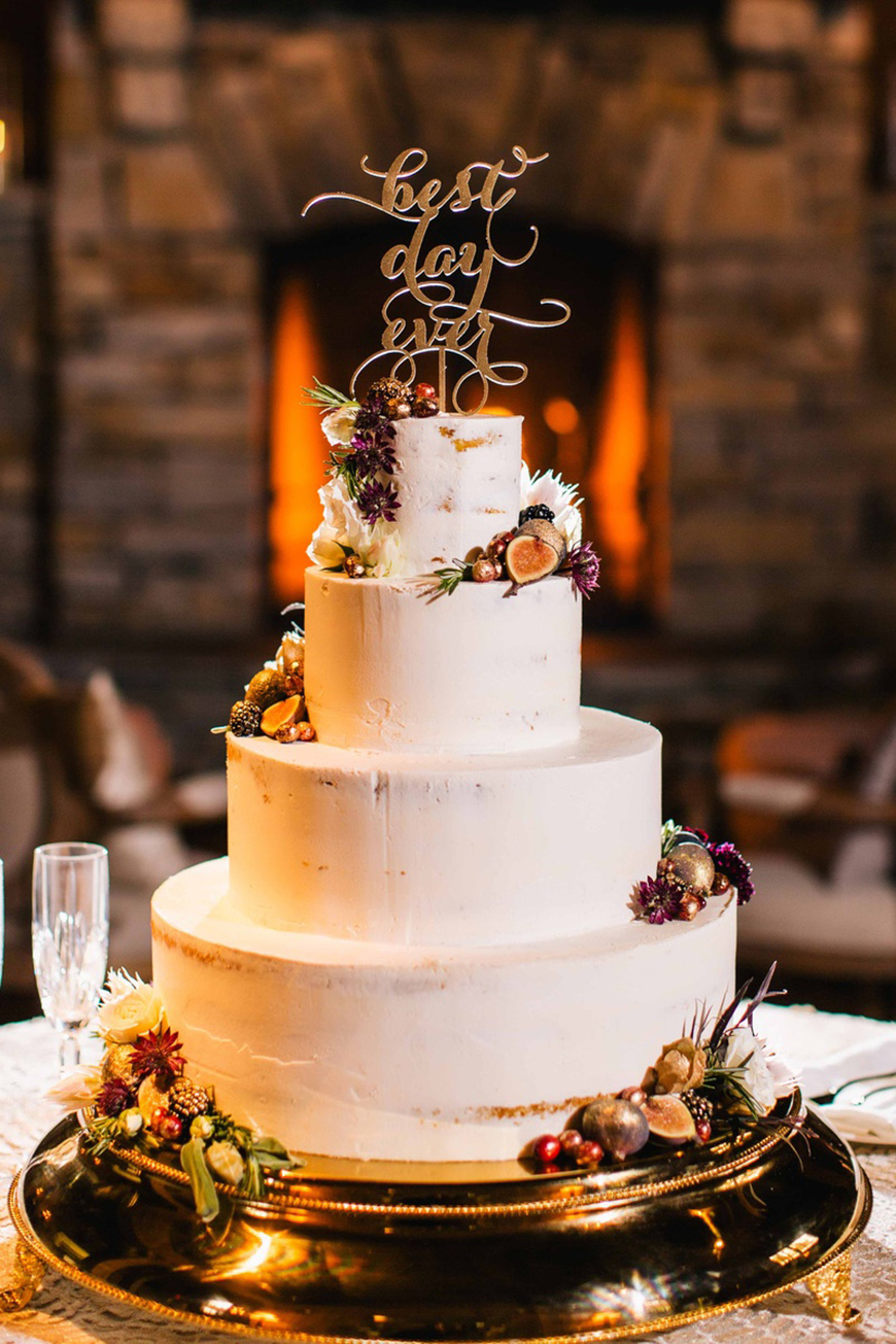 Wedding Ideas By Colour: White Wedding Cakes - The naked cake | CHWV