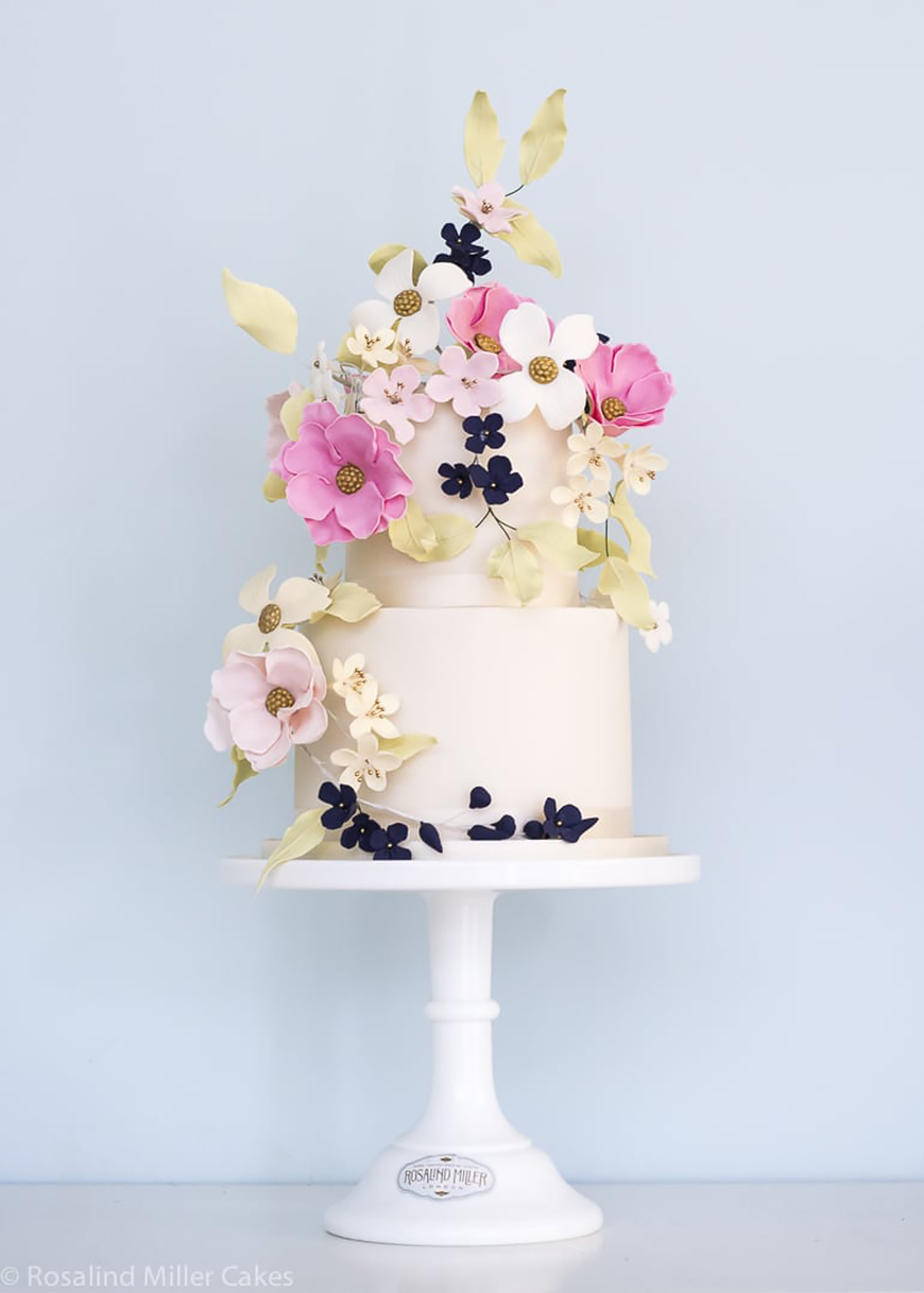 Wedding Ideas By Colour: White Wedding Cakes - Say it with flowers | CHWV