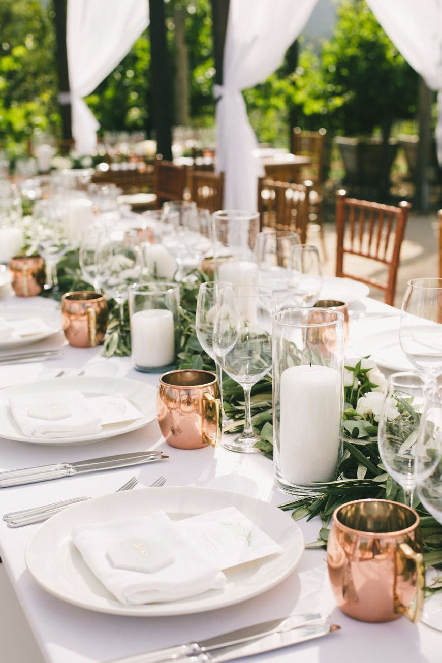Wedding Ideas By Colour: Winter Wedding Colour Schemes - Copper, white and green | CHWV