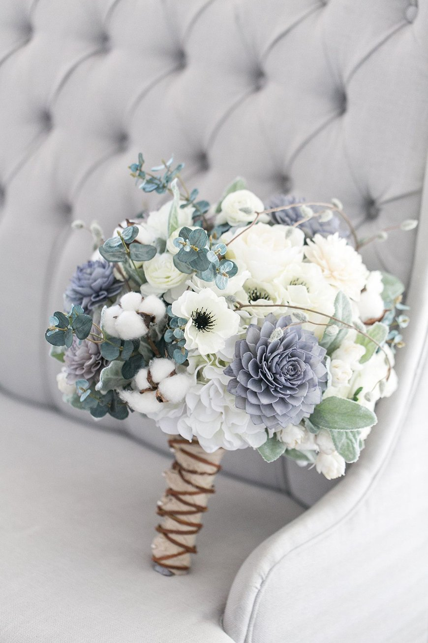 Wedding Ideas By Colour: Winter Wedding Colour Schemes - Grey-blue and white | CHWV