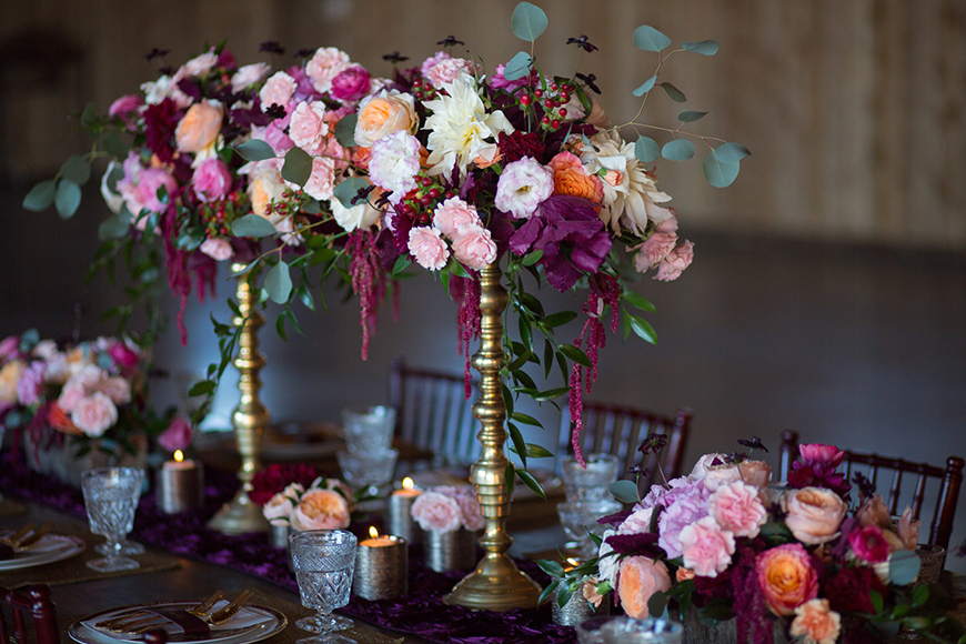 Wedding Ideas By Colour: Winter Wedding Colour Schemes - Blush pink and burgundy | CHWV