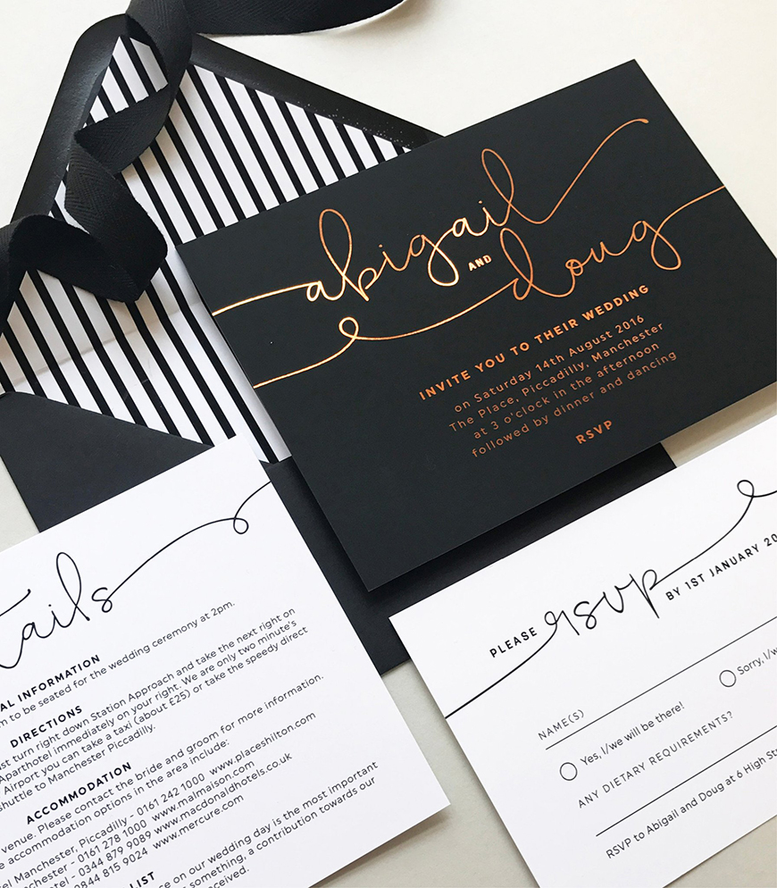 Wedding Ideas By Colour: Winter Wedding Colour Schemes - Monochrome | CHWV