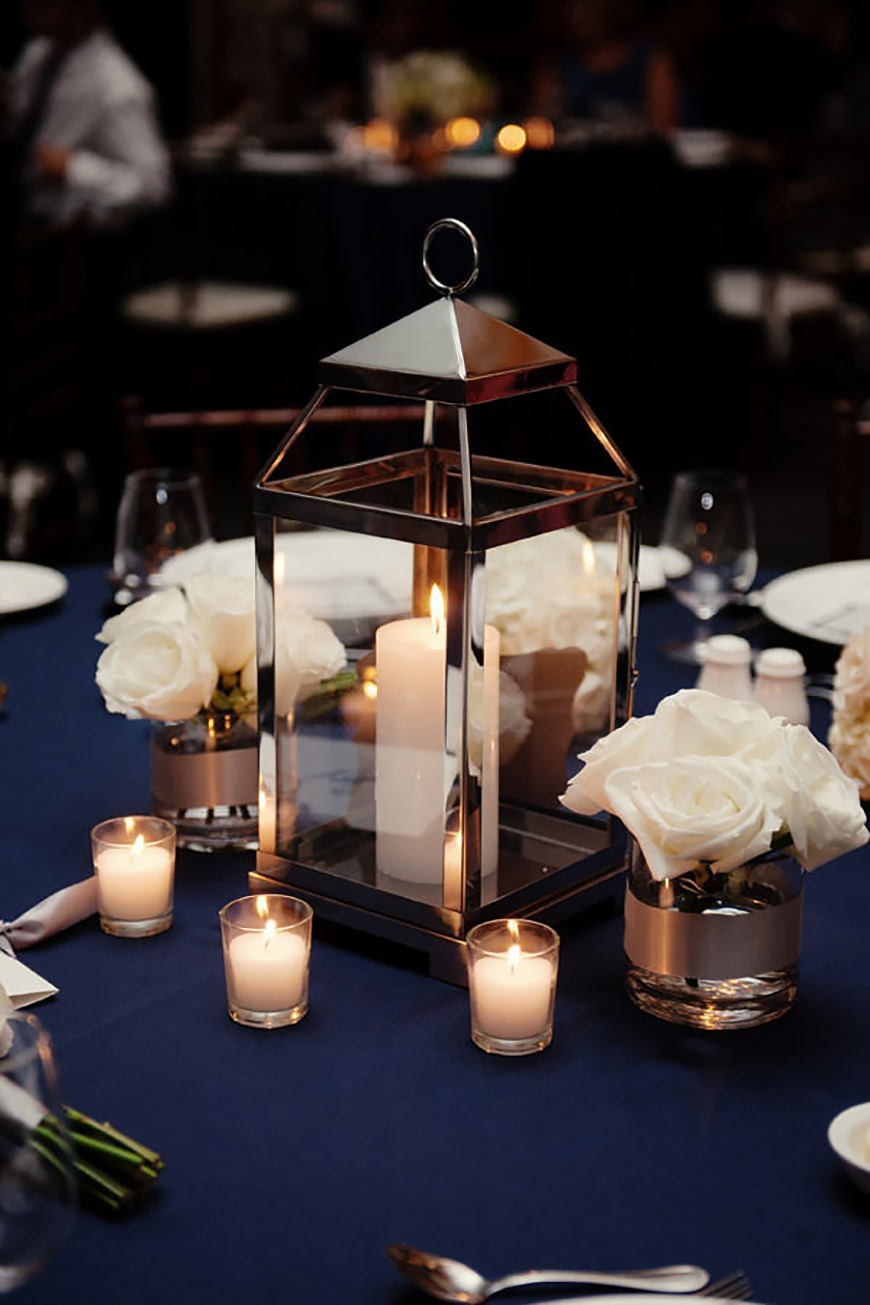 Wedding Ideas By Colour: Winter Wedding Colour Schemes - Navy and silver | CHWV