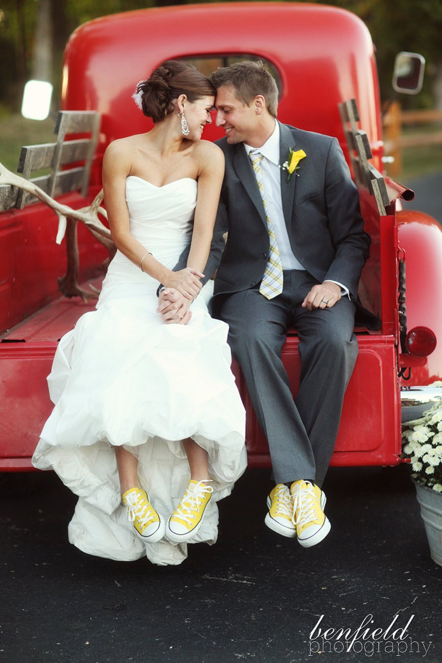 Wedding Ideas By Colour: Yellow Groom's Accessories - Shoes | CHWV