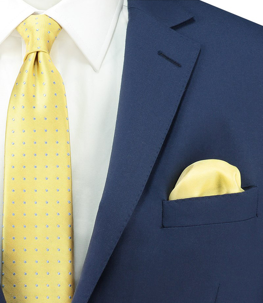 Wedding Ideas By Colour: Yellow Groom's Accessories - Pocket square | CHWV