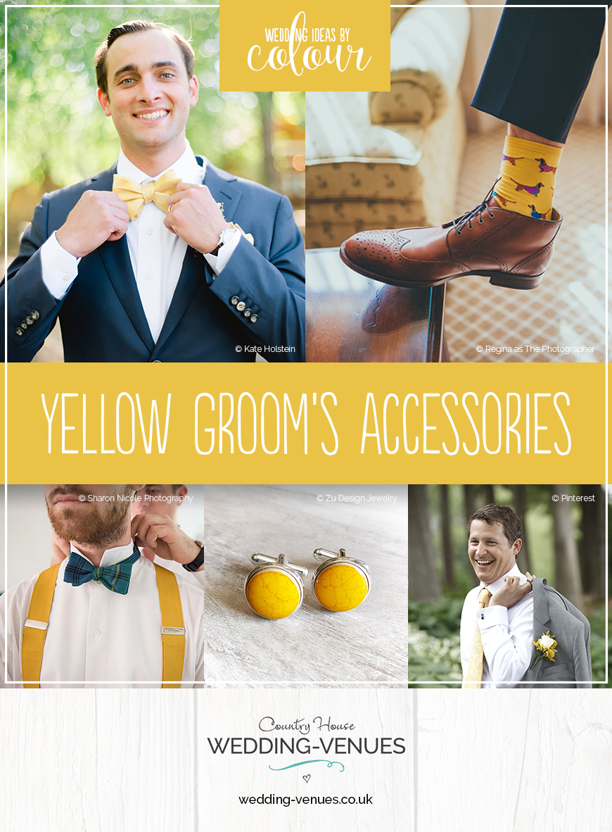 Wedding Ideas By Colour: Yellow Groom's Accessories | CHWV