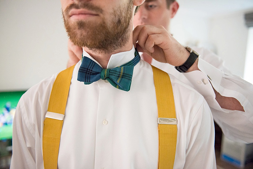 Wedding Ideas By Colour: Yellow Groom's Accessories - Braces | CHWV