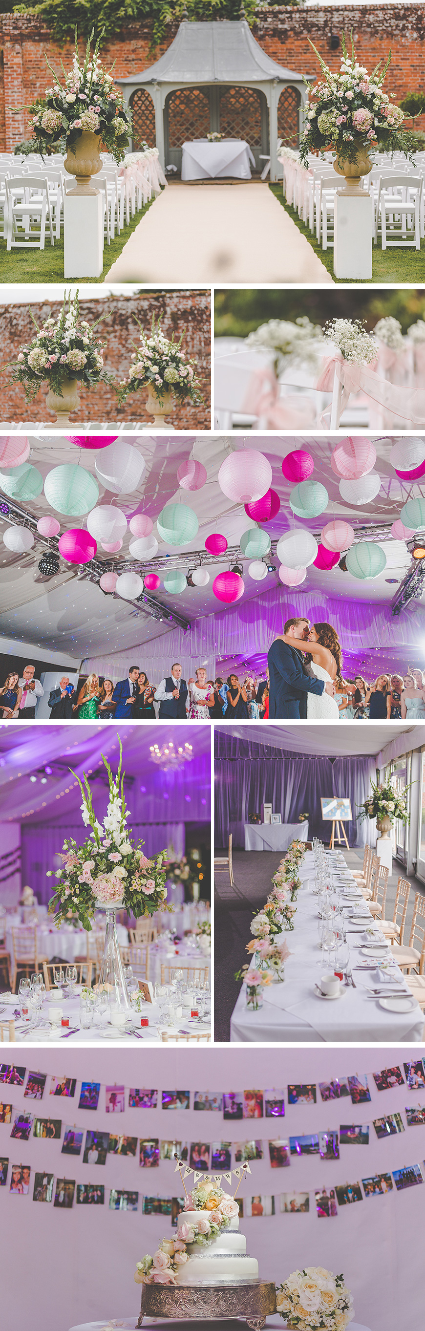 Zillia and Martyn's Pastel Summer Wedding At Braxted Park - The decorations | CHWV