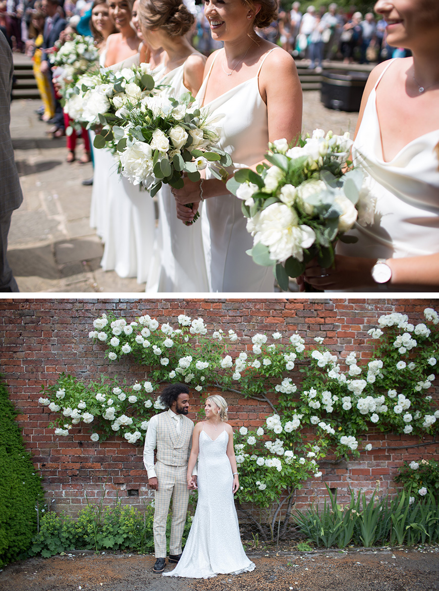 Real Wedding - Zoë & Junior's Idyllic White Wedding at Combermere Abbey | CHWV